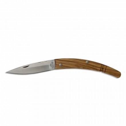 Gobbo hantverkskniv böjd handtag i horn eller trä Tillverkad i Italien - Gobbo