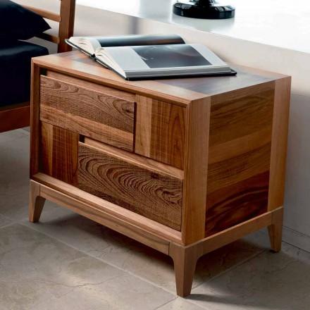 Dresser 2 trälådor modern design massiv valnöt, Nino