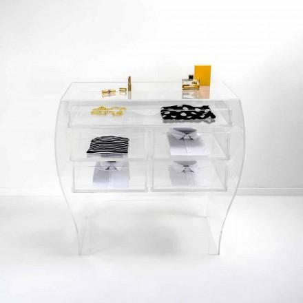 Bröst 5 lådor modern design plexiglas Billy