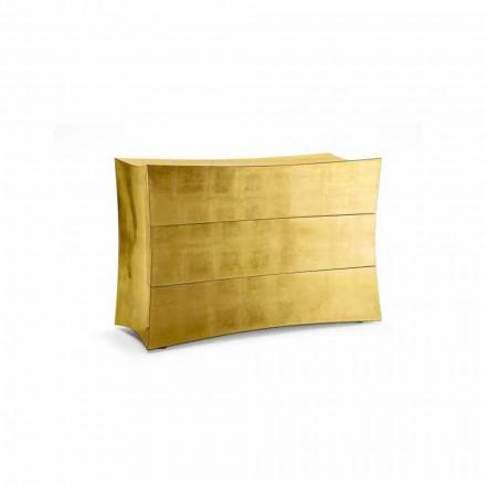 Byrå med 3 lådor MDF modern design, tillverkad i Italien, Isidoro