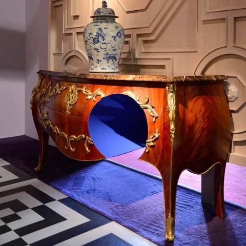 Dresser i marmor och dekorationer i ottore design, tillverkad i Italien, Gildo