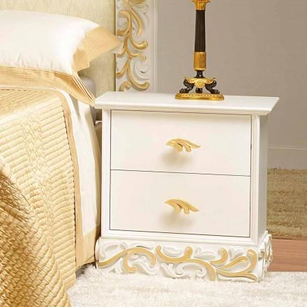 Säng 2 trälådor med Kush guld dekorationer, som gjorts i Italien
