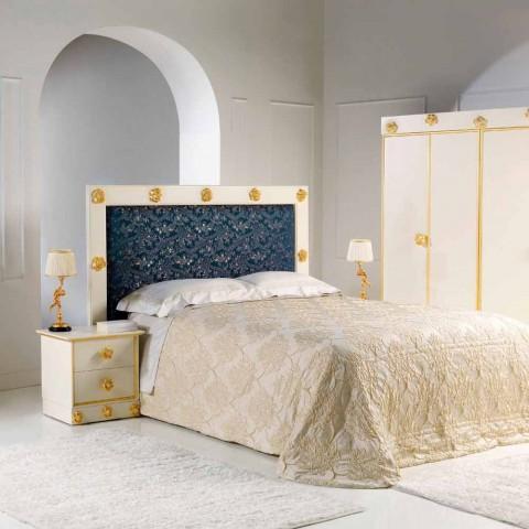 Bedside 2 trä lådor med formade knoppar av rosor Renoir