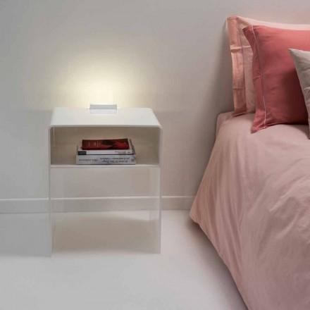 Nattduksbord med vitt LED-ljus lyser beröring Adelia