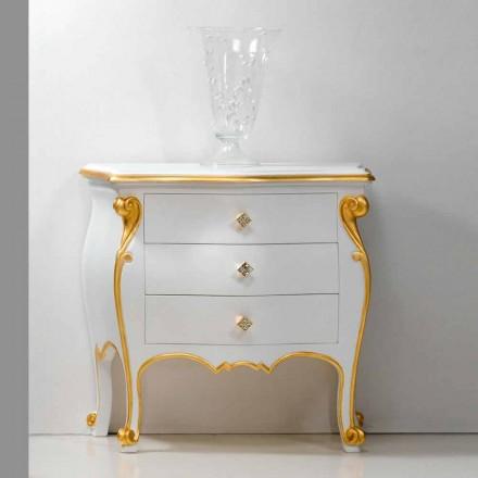 Bio säng klassisk design med guld profiler, tillverkad i Italien