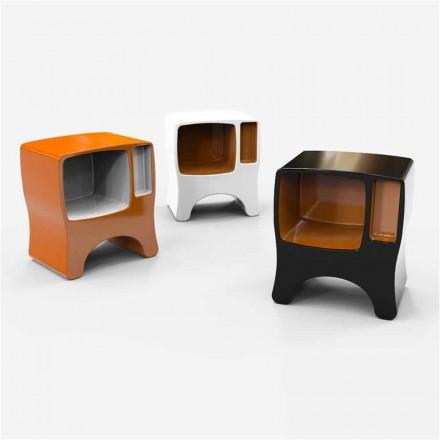 Design nattduksbord i katodisk solid yta gjord i Italien