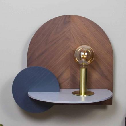 Nattduksbord i modern design bestående av 3 modulära plywoodpaneler - Marea