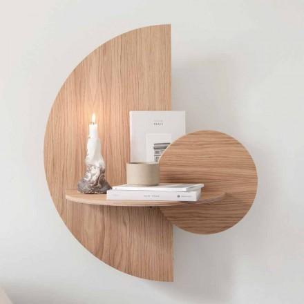 Sängbord design bestående av 3 modulpaneler i ek - Ramia-plywood
