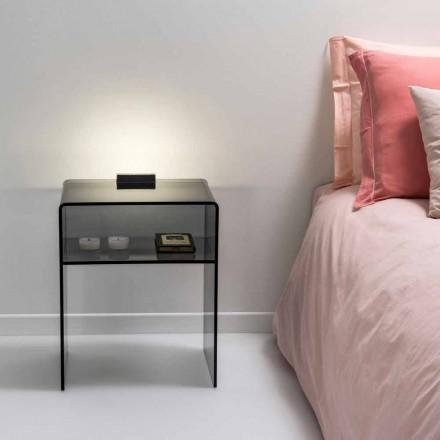 rökt säng med LED-ljus lyser att Tocco Adelia, tillverkad i Italien