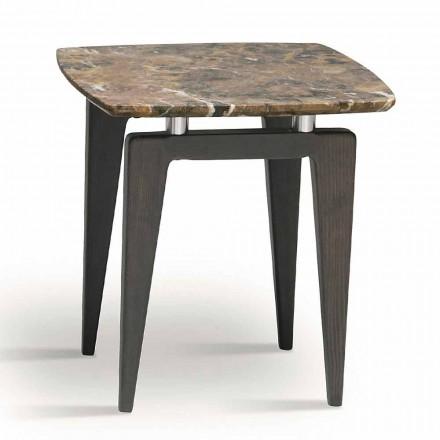 Marmor sängbord med trästruktur, hög kvalitet tillverkad i Italien - höj