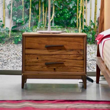 Samtida nattduksbordet 2 lådor antik ek, P L 60 x 42 cm, Margo
