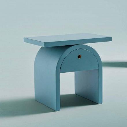 Sängbord med modern design i färgat trä för sovrummet - Arcom