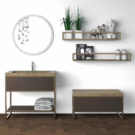 Komposition 5 Fristående badrumsmöbler i metall, Ecolegno och lyxstengods - Cizco