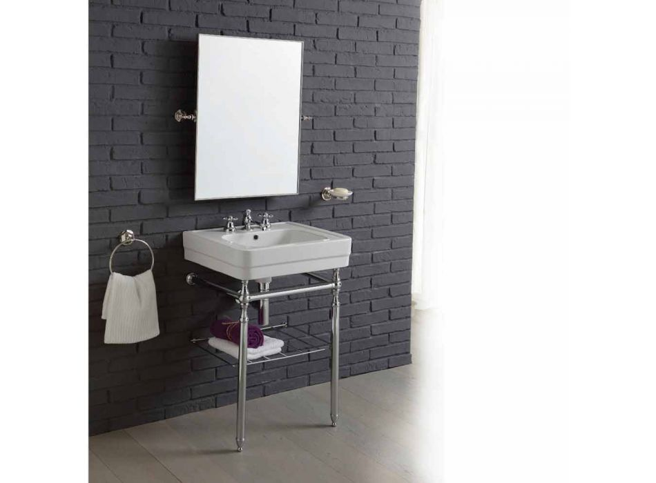 badrumsmöbler komposition med handfat metallstruktur Beauty