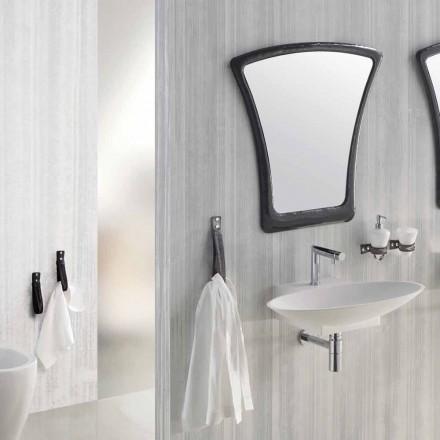 Upphängd design badrumsmöbler komposition gjord i Italien Aosta