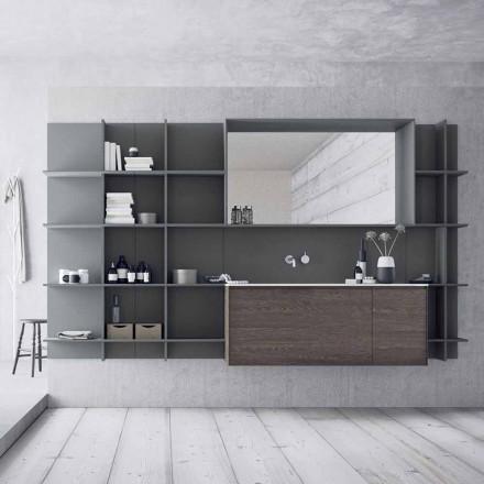 Upphängda och moderna badrumsmöbelkomposition, designmöbler - Callisi12