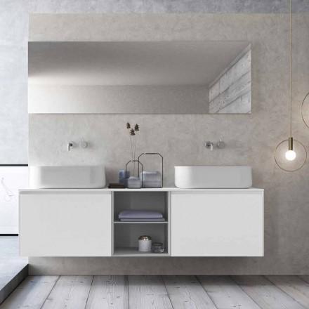 Modern badrumskomposition för design, gjord i Italien - Callisi14
