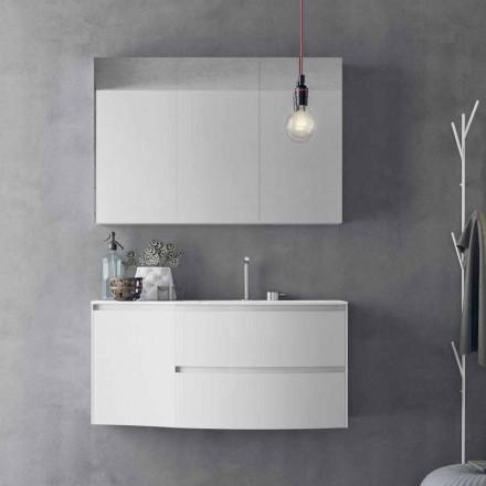Modern och upphängd badrumskomposition tillverkad i Italien Design - Callisi7