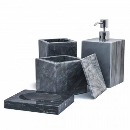Sammansättning av badrumstillbehör i marmor tillverkad i Italien, 4 delar - Deano
