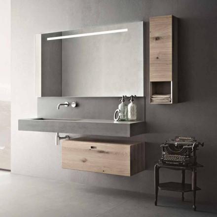 Designkomposition för moderna upphängda möbler i badrum tillverkat i Italien - Farart2