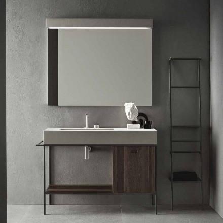 Sammansättning av handgjorda möbler för badrum med modern design på marken - Farart3