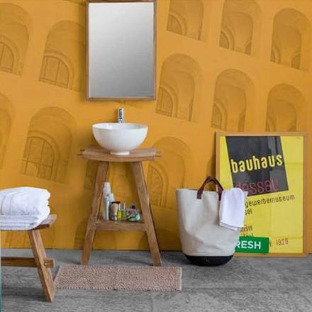 Sammansättning av badrumsmöbler i massiv teak av modern design - Azina