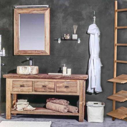 Sammansättning av moderna badrumsmöbler i massivt teakträ - Potta