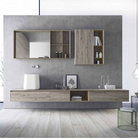 Sammansättning av moderna badrumsmöbler, upphängd design tillverkad i Italien - Callisi6