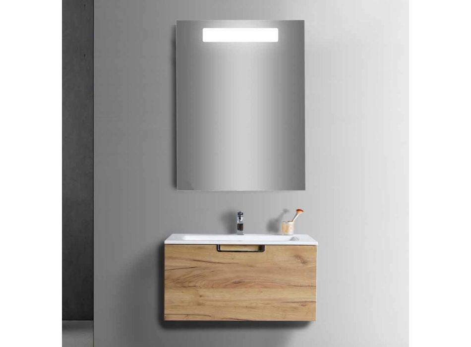 Badrumsskåp i kombination med skåp i trä och modern design - Gualtiero