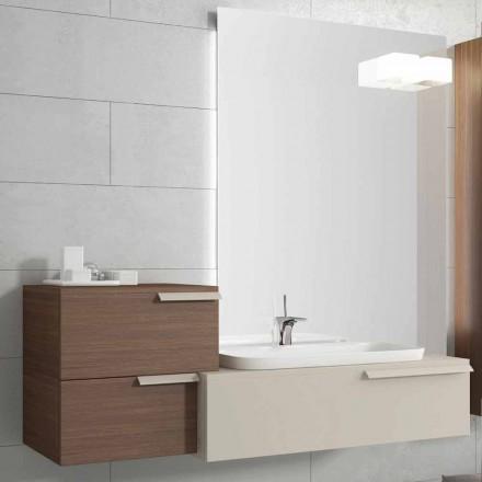 Upphängda badrumsmöbler designkomposition Lycklig lackerat trä Glad