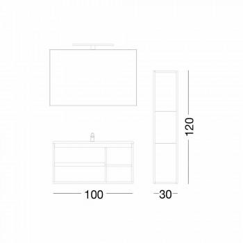 Komposition Suspenderade badrumsmöbler i Melamine och MDF - Becky