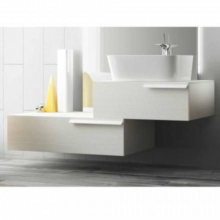 Lycklig modern lackerad trähängande badrumsmöbler