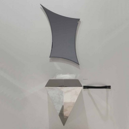 Modern suspenderad badrumsmöbler komposition producerad i Italien Venedig