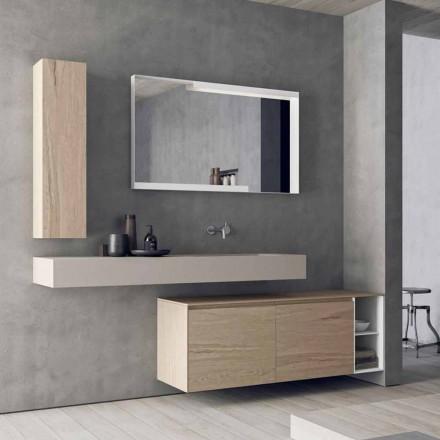 Modern och upphängd badrumsmöbelkomposition, tillverkad i Italien Design - Callisi1