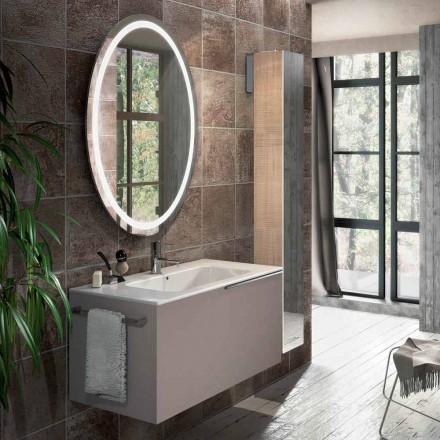 Sammansättning av hängande badrumsmöbler i Genua design