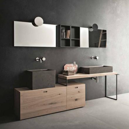 Modern badrumssammansättning av markdesignmöbler tillverkade i Italien - Farart6