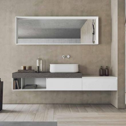 Modern och upphängd sammansättning av designade badrumsmöbler - Callisi2