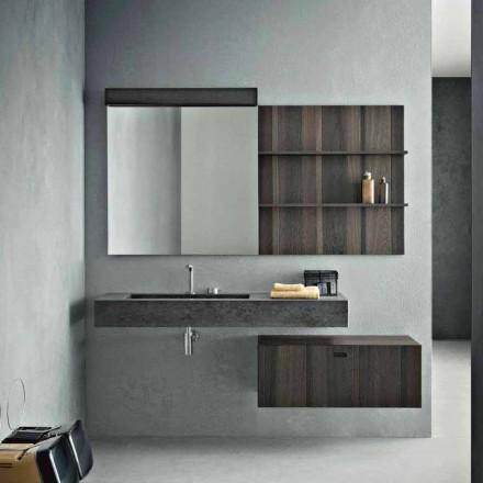 Komposition för upphängd badrum och modern design tillverkad i Italien - Farart9