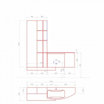Badkomposition, modern italiensk designupphängning - Callisi10