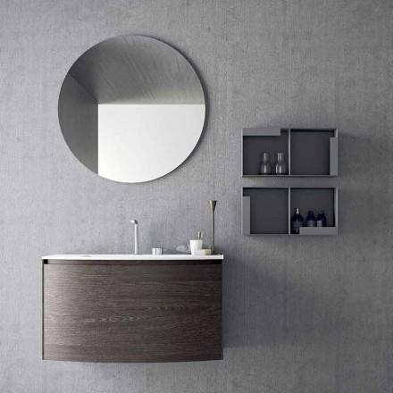 Komposition för hängande badrum med modern design tillverkad i Italien - Callisi11