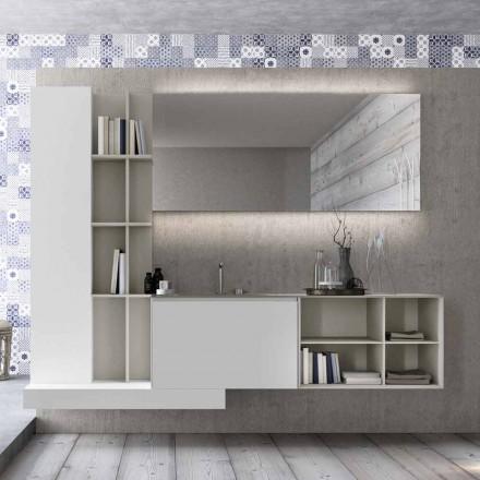Upphängda badrumsmöbler med modern design tillverkad i Italien - Callisi15