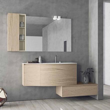 Upphängd och modern komposition för badrummet, tillverkad i Italien Design - Callisi4