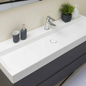 Komposition Suspenderade badrumsmöbler i MDF Tillverkad i Italien - Becky