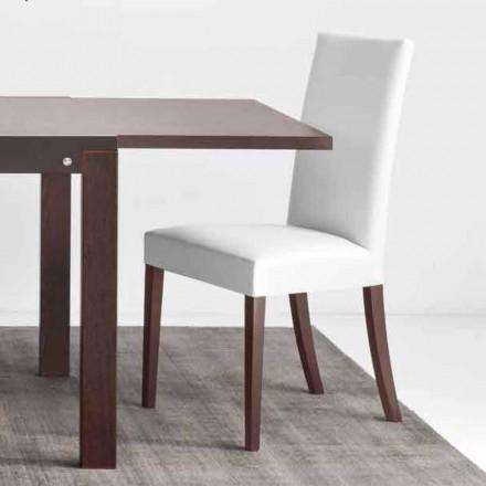 Connubia Copenhagen Calligaris stol i konstläder och trä, 2 st