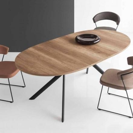 Connubia Calligaris Jupiter ovalt bord i trä, L140 / 190cm
