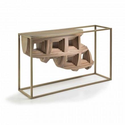 Console i trädesign av lyx valnöt och metall Pardo