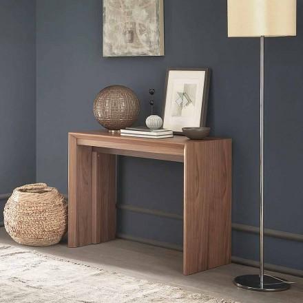 Utdragbar bordskonsol Upp till 295 cm i trä Made in Italy Design - Temocle