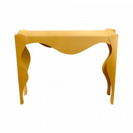 Vardagsrumskonsol för modern design i färgat järn tillverkat i Italien - Gertrude