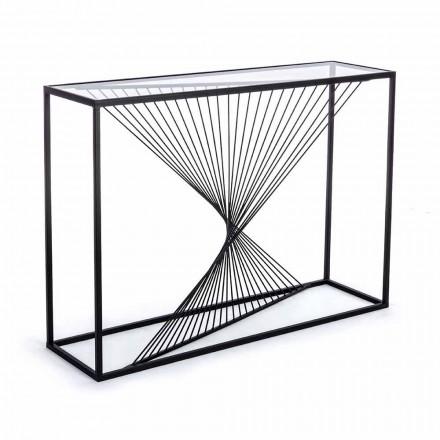 Konsol i stål och glas Modern design Original Spiral - Sasuke