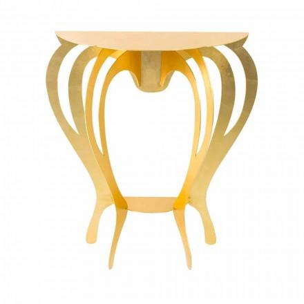 Konsol i färgat järn för modern design tillverkad i Italien - Barbata